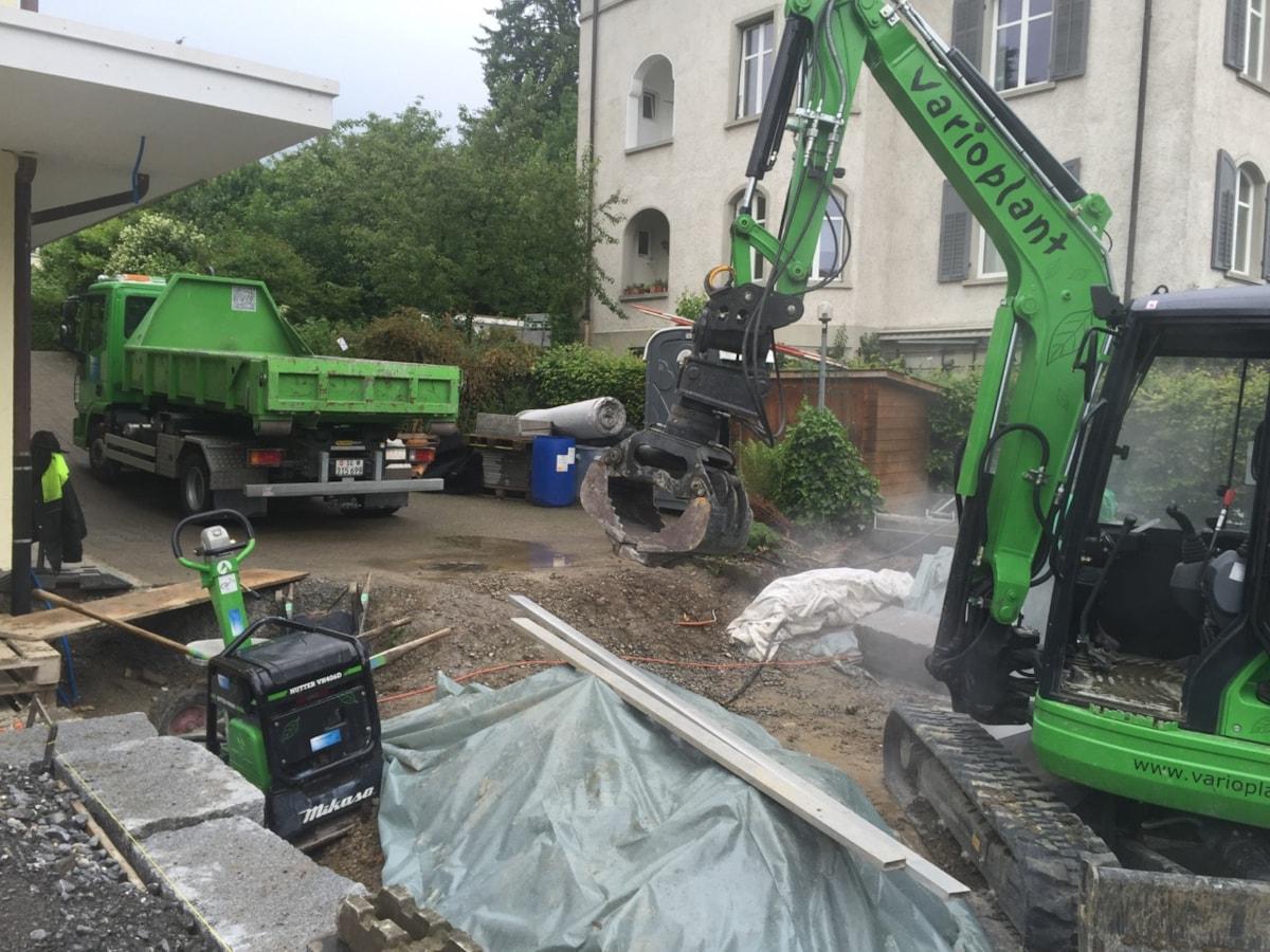 Granitquader mauer for Garten steine 40x40